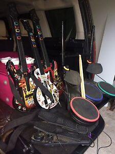 Nintendo wii guitar hero equipment and game Bedford Bayswater Area Preview