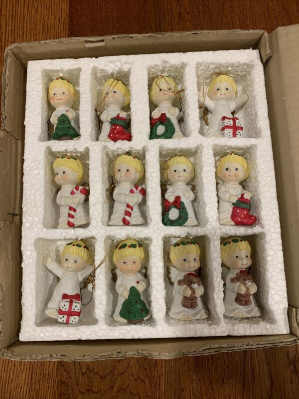 Ceramic Angel Child Christmas Ornaments - Perfect Condition