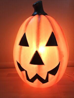 "VTG 22"" Empire Halloween pumpkin blow mold jackolantern Lighted Yard Decoration"