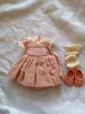 Ginnette dress with shoes pink sash vogue with original box