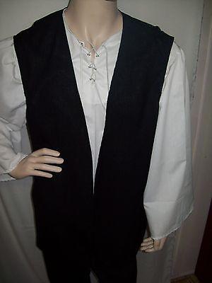New Handmade Renaissance /Pirate Men's Vest Size Extra Large Various Colors](Mens Pirate Vest)
