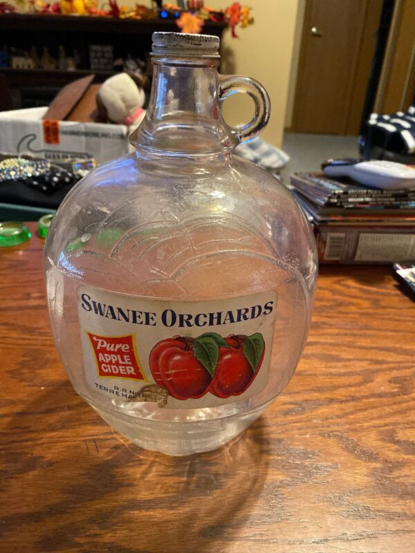 SWANEE ORCHARDS PURE APPLE CIDER ONE GALLON JUG BOTTLE WHITE HOUSE