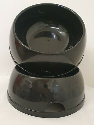 2 Bowls 1.5L Pet Dog Food Bowl Water Dish Feeding Animal Plastic Large dog bowl
