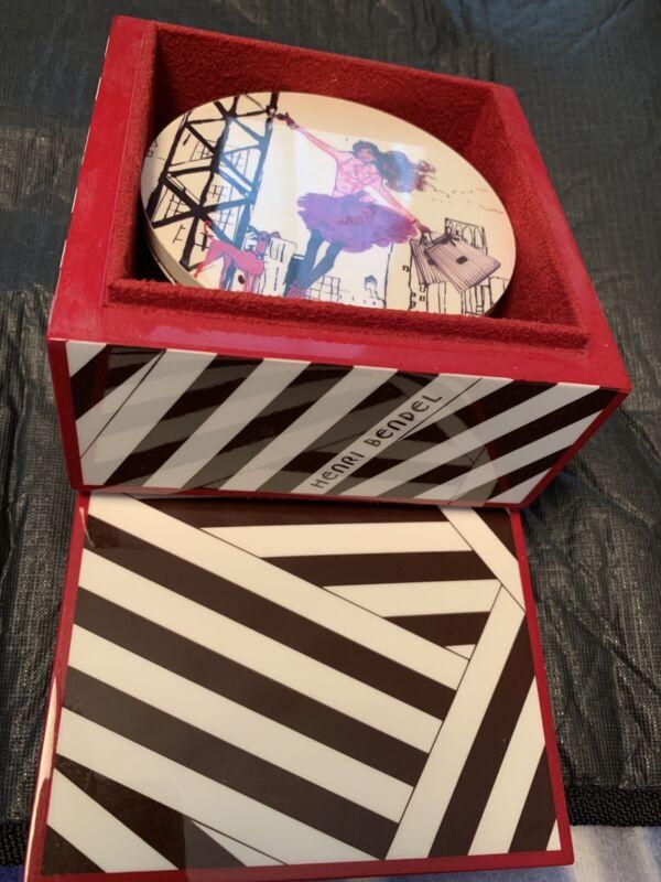 "Henri Bendel 4"" Set of Six Coasters including Henri Bendel Box"