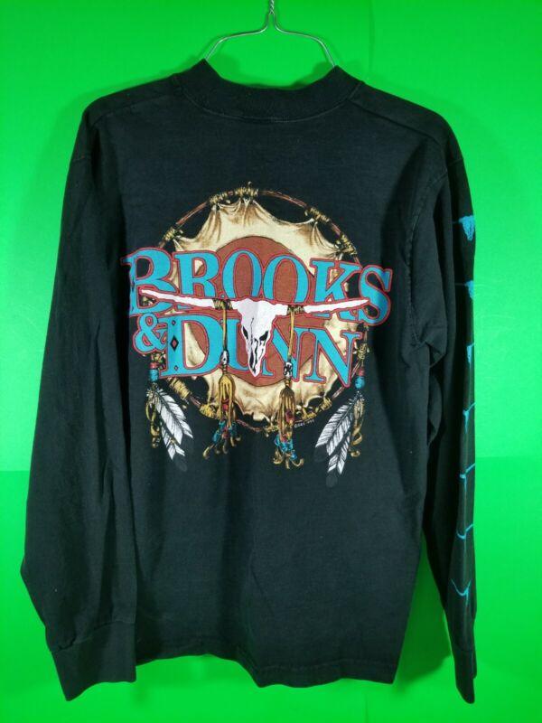 Brooks N Dunn vintage 1993 longer sleeve black shirt size S..   (4)