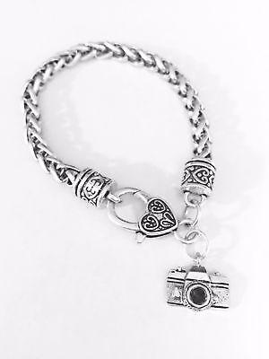 Camera Charm Bracelet Photography Photographer Travel Christmas Gift Mom Jewelry](Mom Charm Bracelet)