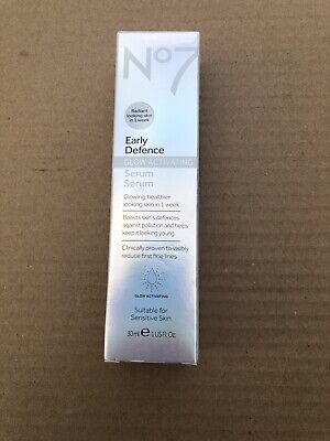New! Boots No7 Early Defence Glow Activating Serum 1 fl oz. (1104)