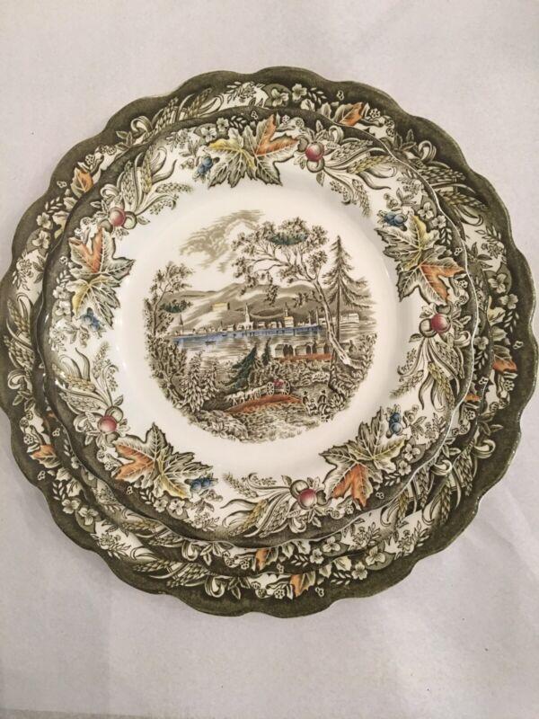 Ridgeway Staffordshire England Early Canada Heritage Dinnerware 1 Place Setting