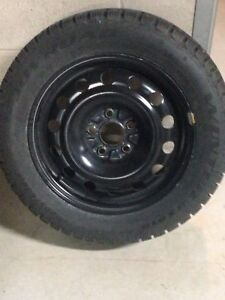 "16"" studded tires w/rims"