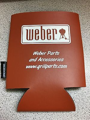 NEW Weber BBQ Grill by KOOZIE Barbecue Beer Soda Bottle Insulator FREE SHIPPING