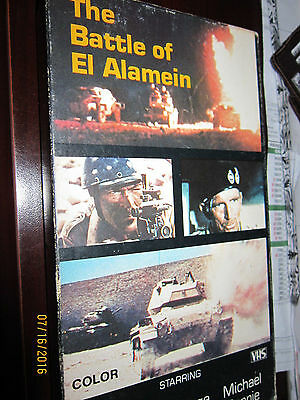 BATTLE OF EL ALAMEIN VHS Military Movie Stafford Hilton HISTORY