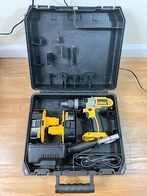 Dewalt Dcd950 18v Cordless 12 Drilldriver Hammer 2 Battcharger Included