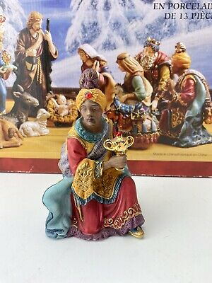 "Kirkland Signature Porcelain Nativity Hand painted Wiseman 6"" From Set 18366"