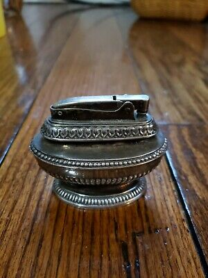 "Vintage Ronson ""Queen Anne"" Table Lighter Silver-Plated"