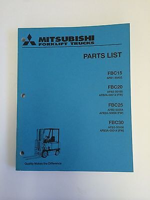 Mitsubshi Forklift Parts Manual Fbc15 Fbc20 Fbc25 Fbc30