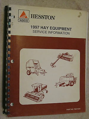 1997 Agco Hesston Hay Equipment Service Bulletin Information Repair Manual