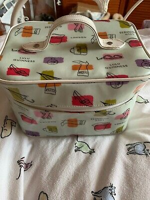 NWOT Lulu Guinness Laminated Cosmetic Vanity Case With Mirror