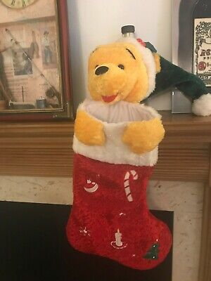 Disney Winnie the Pooh Christmas Stocking Sock plush soft toy