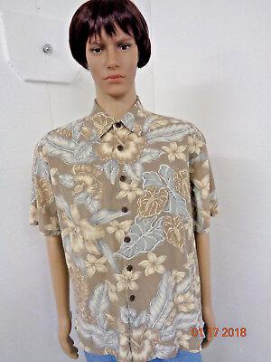 Men Kahala Size Large Short Sleeve Button Front Hawaiian Shirt