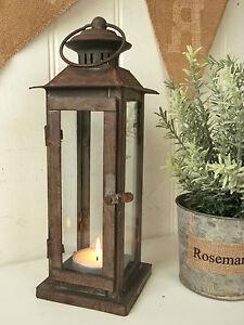 Antique Vintage Style Lantern Candle Holder Tea Light Holder Indoor Outdoor