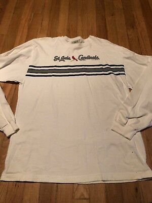 Gear For Sports Men's White St. Louis Cardinals Long Sleeve Top Size Medium (St Louis Cardinals Gear)