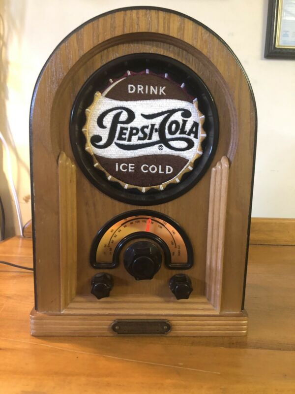 Vintage Pepsi-Cola Replica Wood Jukebox Radio 1996 Collector