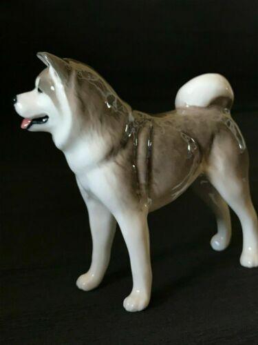 Akita figurine dog porcelain handmade cute souvenir homedecor