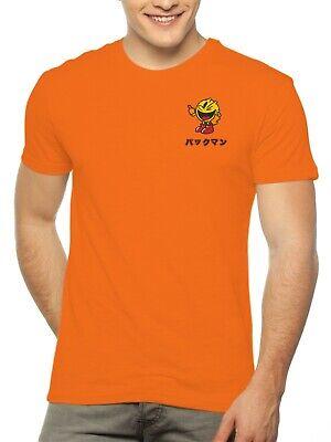 """Pac-Man Shirt Says """"Pacman"""" in Japanese Namco Orange Men's Size Medium-2XL"""