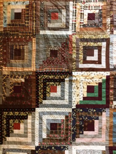 Antique quilt top. Late 19th Century. Silk fabrics. Very skillfully hand pieced