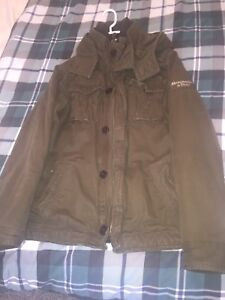 Gorgeous Men's Abercrombie and Fitch Green Jacket