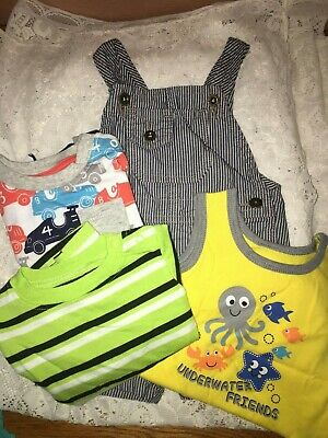Small Lot Baby Boy Summer Clothes 6-9 Month Wrangler - FREE SHIP