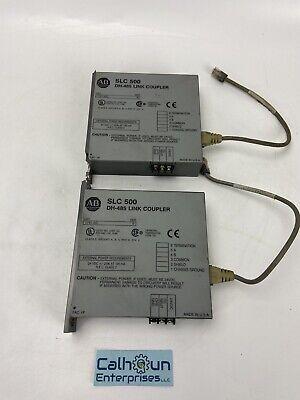 Lot Of 2 Allen-bradley 1747-aic Slc 500 Dh-485 Link Coupler Warranty
