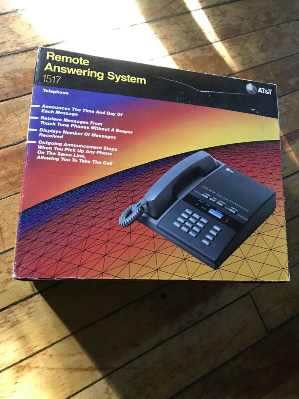 Vintage AT&T Remote Answering System 1517 Telephone (NEVER USED,ALL PARTS)