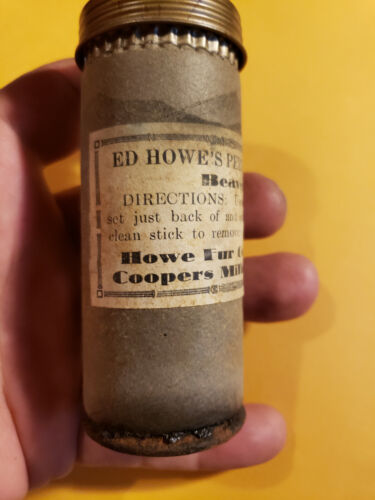 trapping lure trapper scent container Howe fur company Beaver Pelt Pellets