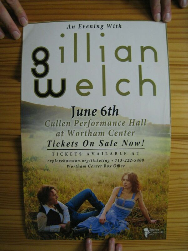 Gillian Welch Poster An Evening With June 6th Cullen Performance Center