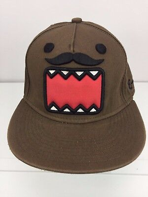 Domo Hat (Domo Mustache Hat Official Licensed Brown Anime snapback cap Anime Funny)