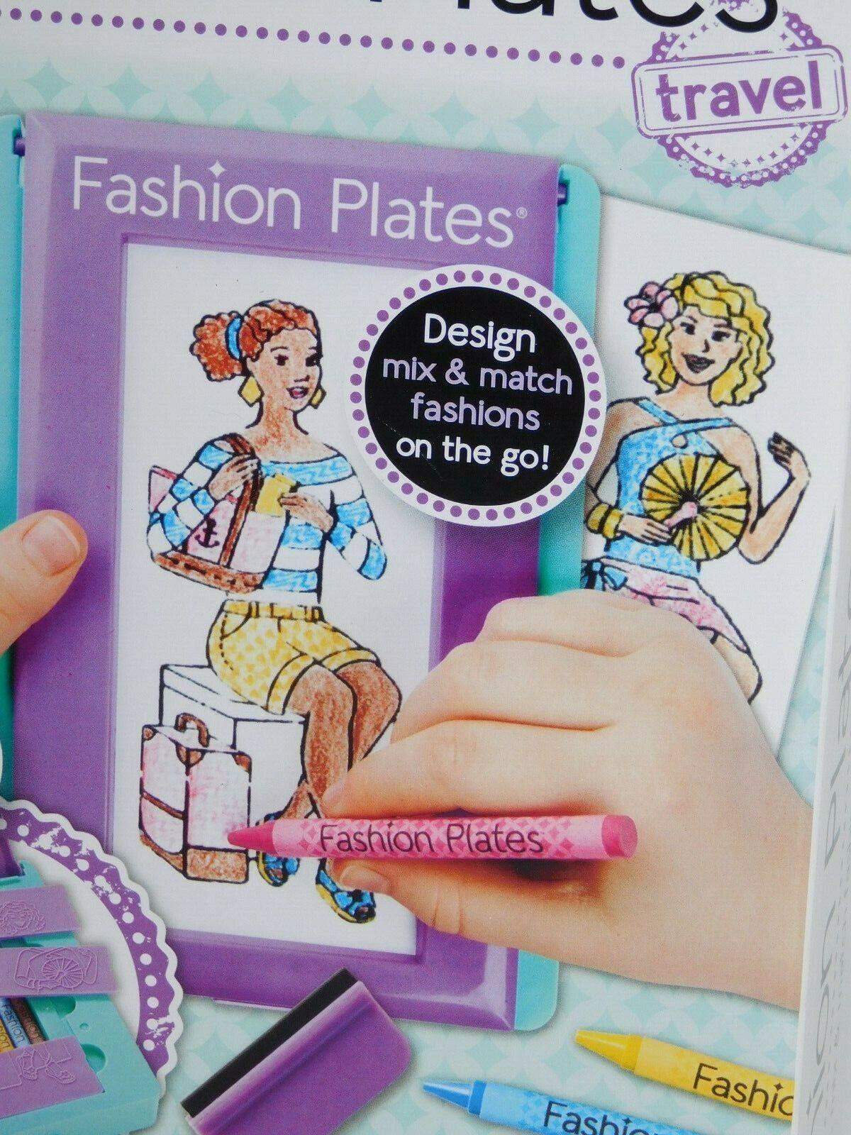 Fashion Plates Design Set-Travel 10/Pkg