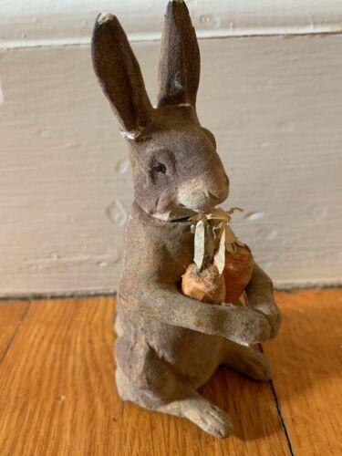 vtg Rabbit Candy Container bunny papier mache composition antique Germany German