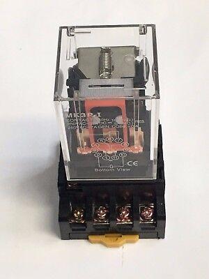 Mk3p-i Mk3p Dc 110v 110vac Relay 11 Pin 10a 250vac Pf113a Socket Base.