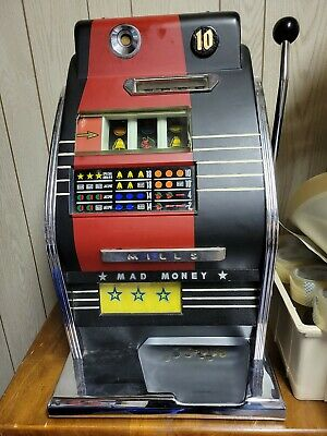 Vintage MILLS Ten CENT 10c SLOT MACHINE WORKS!! Pick Up Bolingbrook il
