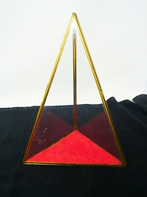Good Antique Pyramid Glass Display Pair Condition