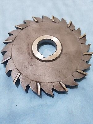 HSS Import Staggered Tooth Side Milling Cutter 6 DIA x 9//16 Face x 1-1//4 Hole x 24 Teeth