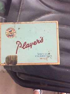 Antique vintage Players tobacco tin