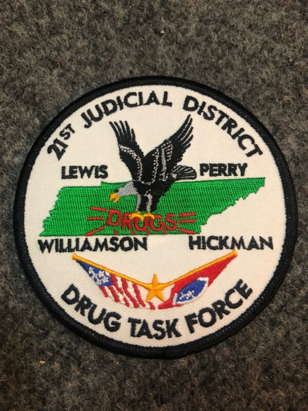 21st Judicial District Drug Task Force Tennessee police patch TN DTF