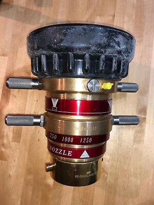 Master Stream Fire Hose Bronze Monitor Nozzle 1250 Gpm 848-bc No-848200