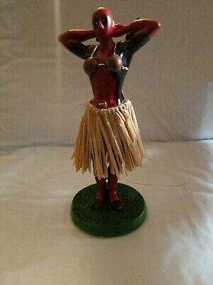 "NIB Marvel Comics Deadpool Hula Girl Swaying 5"" Figure Dashboard/Car/Truck/Van"