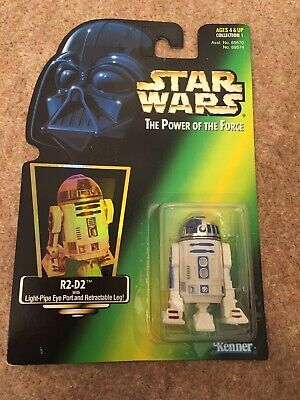 Star Wars POTF R2-D2 Green Card Action Figure Kenner 1995 Holo