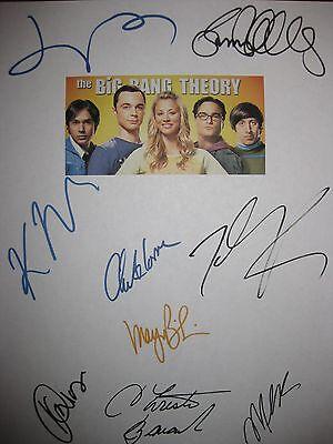 The Big Bang Theory Signed Script X9 Kaley Cuoco Johnny Galecki Jim Parsons RPNT