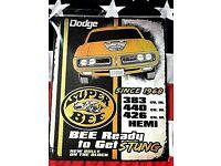 Mopar Super Bee American Vintage Retro Tin Metal Sign Custom Classic Muscle Car