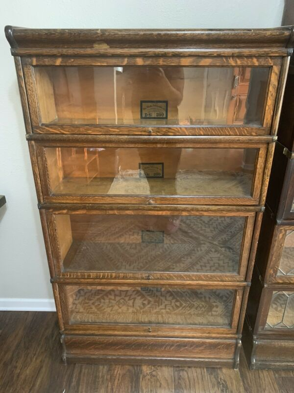 "Globe Wernicke Glass Barrister Lawyers Bookcase 57"" Tall"